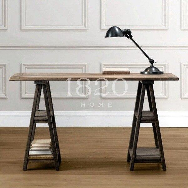Franse land meubels vintage houten computer bureau bureau for Meubels tekenen op computer