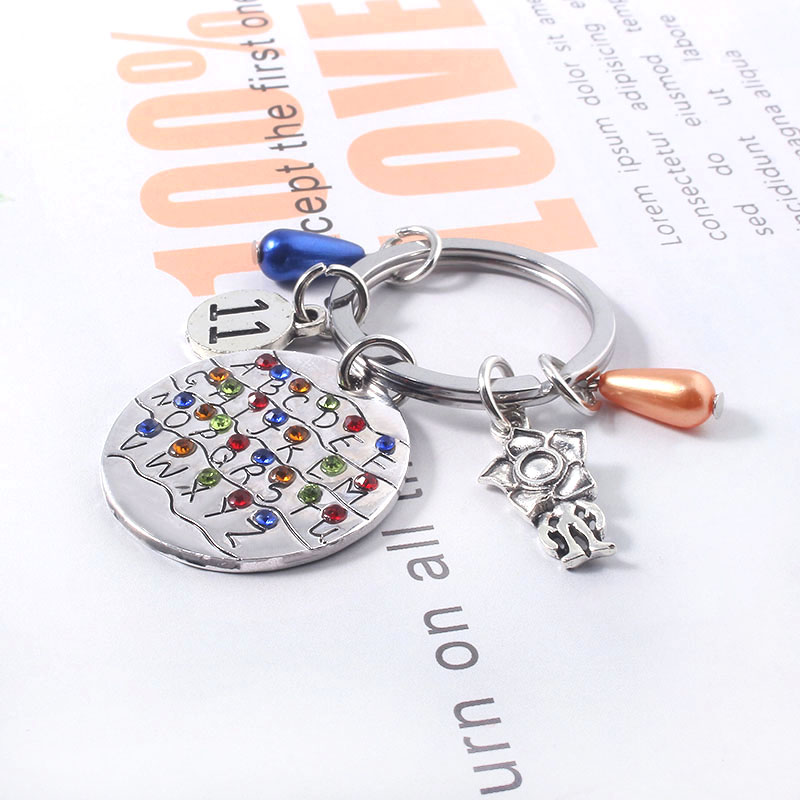 Stranger Things Keychain Little 11 Letter Light Bulb Keychains Llaveros Souvenir Car Keyring Decoration in Key Chains from Jewelry Accessories