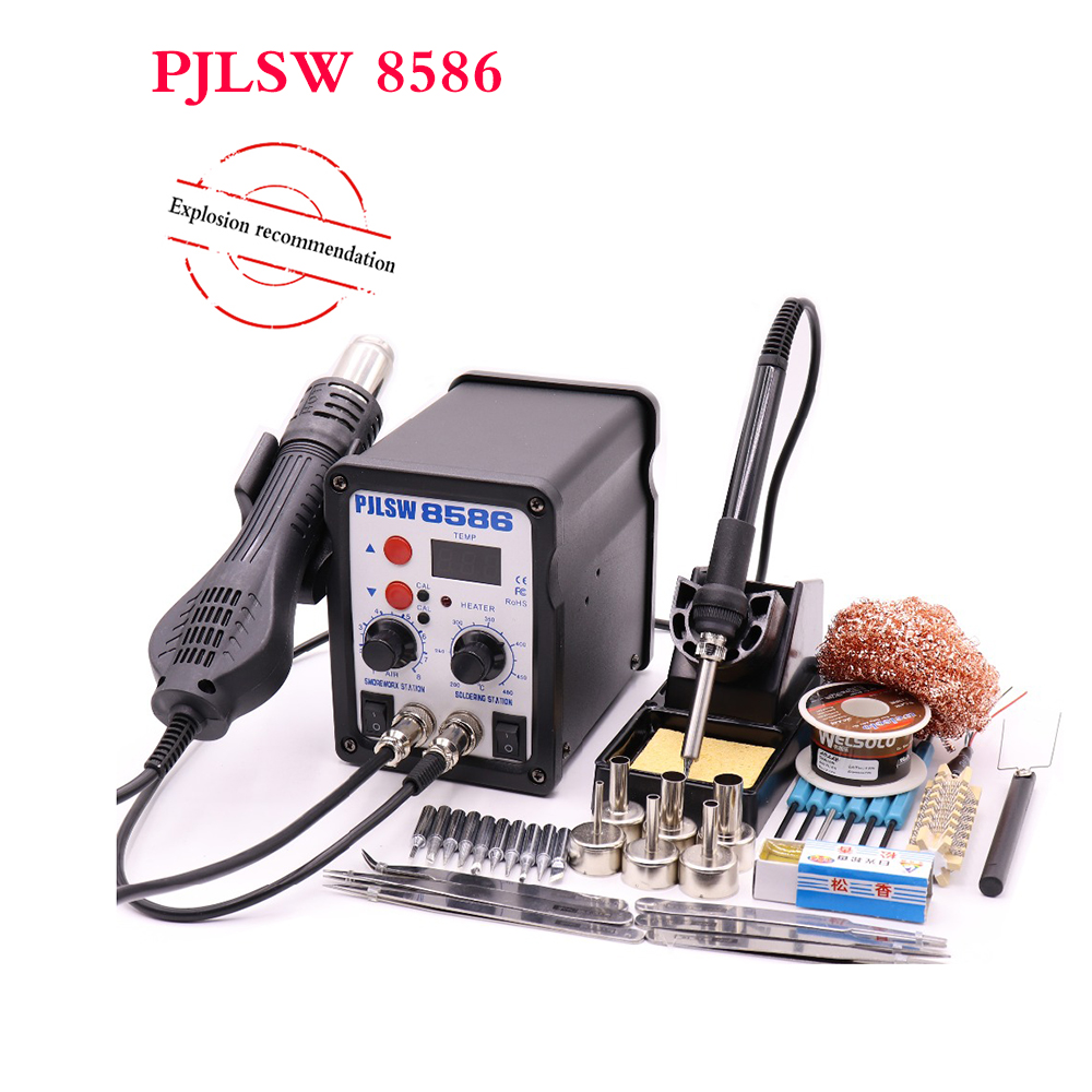 free delivery 8586 700W ESD Soldering Station LED Digital Solder Iron Desoldering Station BGA Rework Solder Station PJLSW esd safe 75w soldering handpiece t245a solder iron handle for di3000 intelligent soldering station