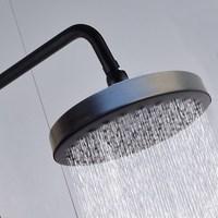 Oil Rubbed Bronze Showerhead Black Brass Rouund Rainfall Shower Head Top Rain Head Shower Faucet Head Ksd246