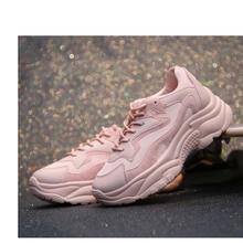 Женская Вулканизированная обувь на платформе, дышащие кроссовки на платформе, однотонная зимняя обувь на толстой подошве средней высоты, модная повседневная обувь