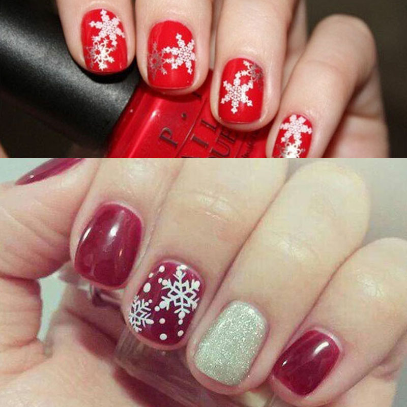 1 Piece Stainless Steel Christmas Style Nail Art Plates Nail ...