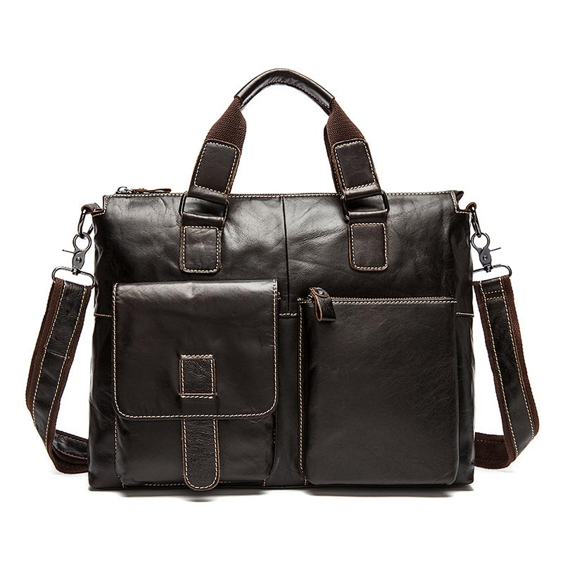 Genuine leather handbag business briefcase Laptop High capacity shoulder bags Natural cowhide Soft skin Crossbody bag handbagsGenuine leather handbag business briefcase Laptop High capacity shoulder bags Natural cowhide Soft skin Crossbody bag handbags