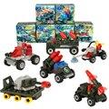 1 Компл. Военный Танк Серии 3D Собраны Строительные Блоки DIY Мини Гранулы Интеллектуальное Развитие Детские Игрушки Подарки 7*7*4.5 см