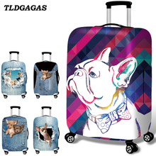 TLDGAGAS Stretch Fabric Pet Pattern Luggage Protective Cover Suit 18-32 Inch Trolley Suitcase Case Covers Travel Accessories