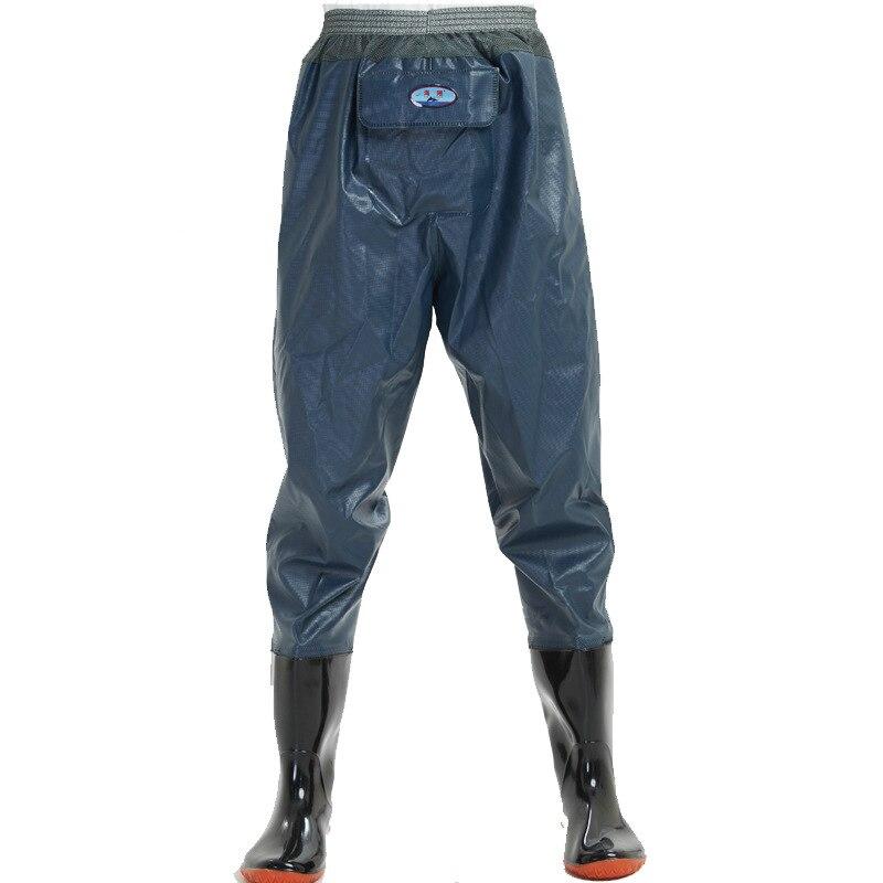גבוהה-קפיצת 0.55mm חיצוני דיג מגפים מגפי PVC עמיד למים סרוג בד רשת מותניים לנשימה ציד דיג מגפים מכנסיים