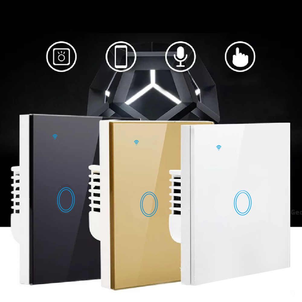 3 цвета wifi сенсорный выключатель речевой Интеллектуальный голосовой контроль мобильное приложение настенный переключатель дистанционного управления