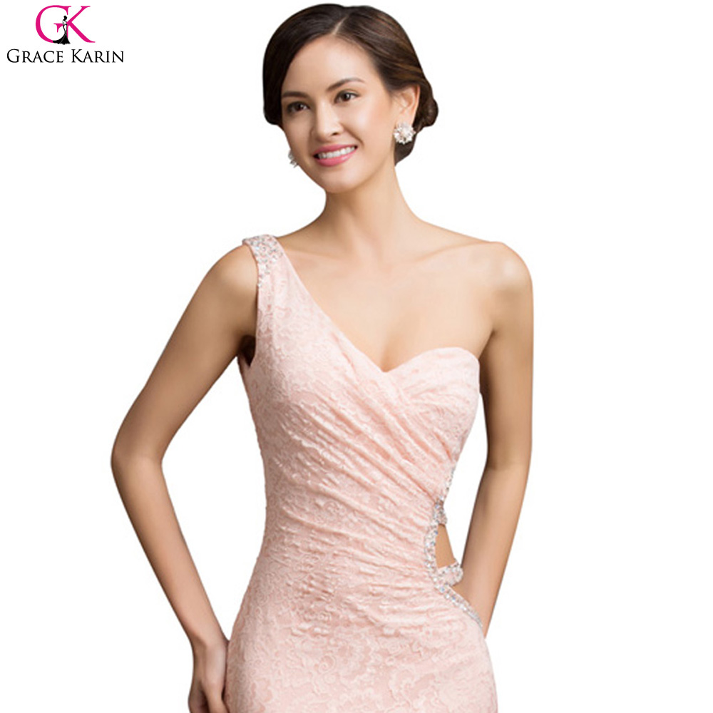Abendkleider Lang Grace Karin One Shoulder Evening Dresses Sexy ...