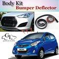 Для Hyundai Atos Eon бампер для губ/передний спойлер дефлектор для TopGear Friends Тюнинг автомобиля вид/комплект кузова/юбка в полоску