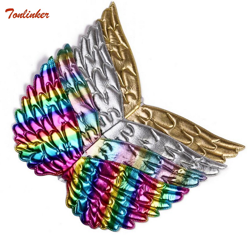Unicorn Costume Gold Silver Unicorn Wings For Kids Girl Princess Fairy Wings Halloween Cosplay Costume Unicornio Accessories