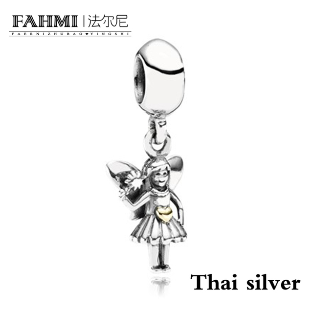 FAHMI Vintage Elegant Butterfly Elf Angel Pendant Charm Limited Collection Original Women's Jewelry Charming Gift Recommended