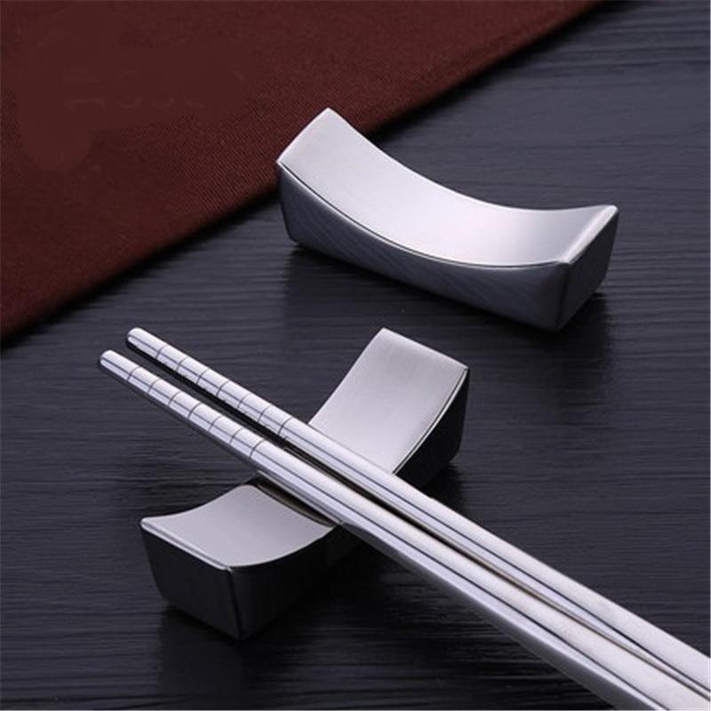 100 개/몫 중국어 젓가락 나머지 전통적인 불규칙한 광장 304 스테인레스 스틸 젓가락 홀더 랙 프레임 주방 도구-에서젓가락부터 홈 & 가든 의  그룹 1