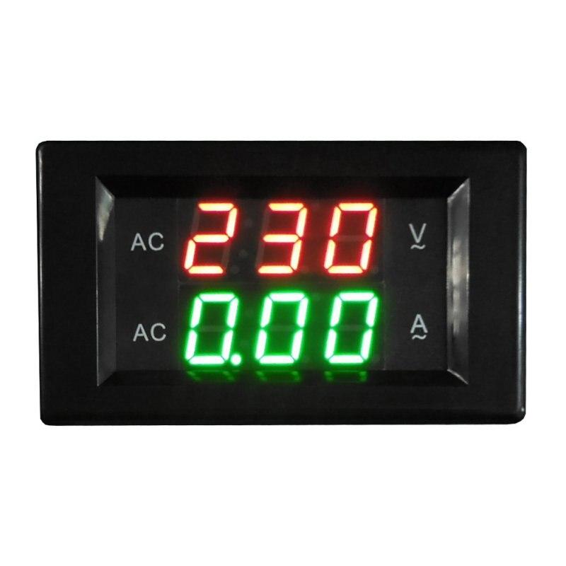 AC 500 V 50A voltímetro Digital amperímetro Dual LED Digital Amp Volt Meter medidor Amperimetro voltaje actual metros