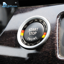 Airspeed for BMW E90 E92 E93 Carbon Fiber Car Engine Start Stop Ring Trim M Sport Car Ignition Key Ring 3 Series Car Accessories стоимость