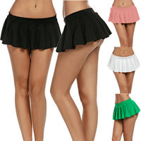 2019 Women Solid Tennis High Waist Plain Skater Flare Pleated Short Mini Hot Skirts