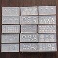 5or10 pcs Random Nail Arts 3D Nail Stamping Plates Image Pattern Transfer Print Template Nail Stencil Stamps DIY Tools
