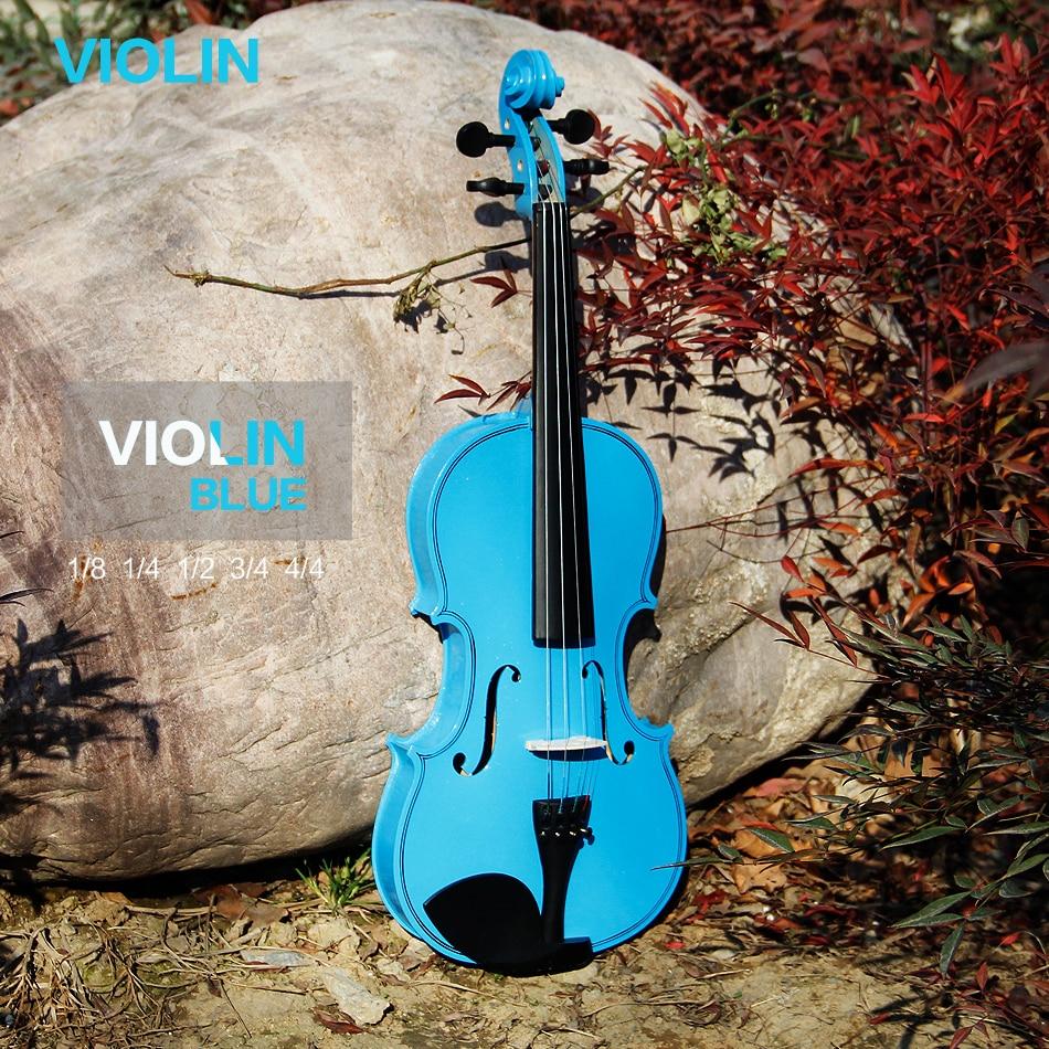 ФОТО Master Violin High quality, bailing violin 1/4 3/4 4/4 1/2 1/8 violin Send violin case, violino blue