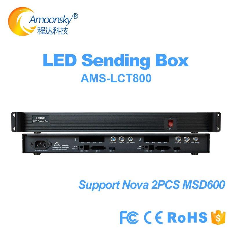 Boîtier de commande d'affichage à matrice led Flexible LCT800 inclus prise en charge de l'alimentation Meanwell 2 carte d'envoi nova msd600