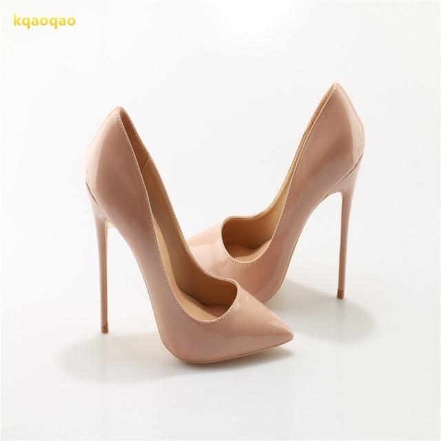 3c6ec0d21b3 Kqaoqao 26 modelos cuero boda Zapatos mujer Tacones altos sexy señora  stiletto mujeres formales Bombas partido