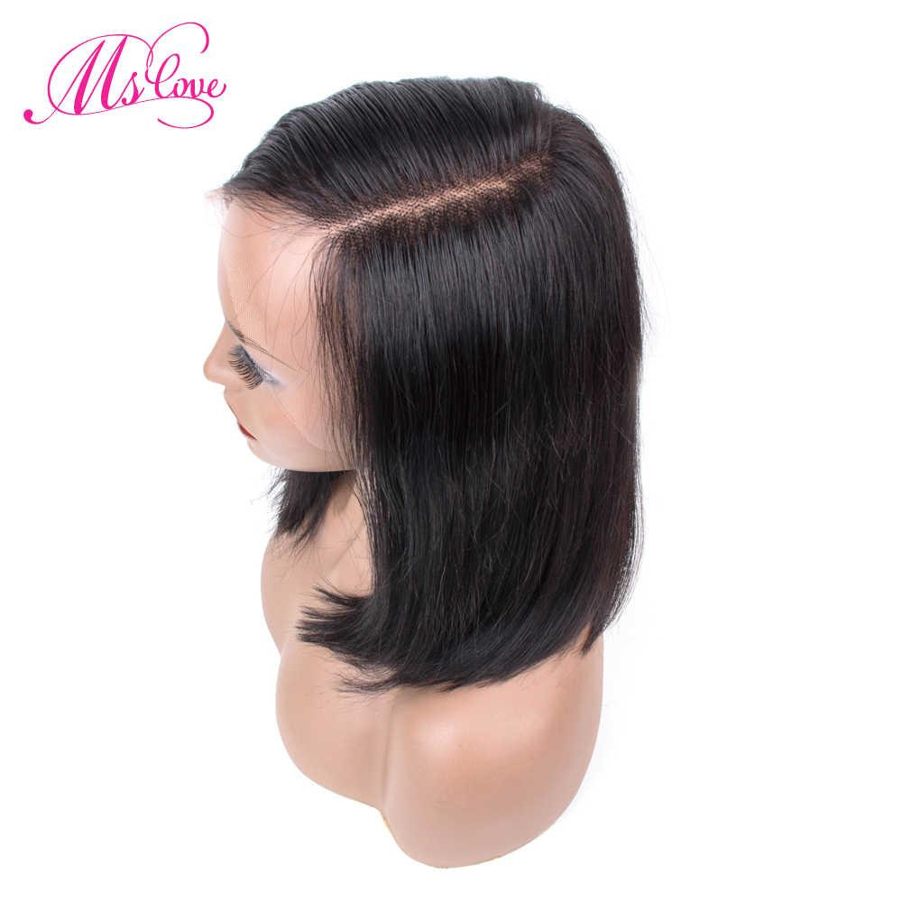 13X6 Синтетические волосы на кружеве al парики темно нож для очистки овощей Боб Синтетические волосы на кружеве парики из натуральных волос прямые бразильские волосы парик для Для женщин 12 дюймов MS любят волосы Remy