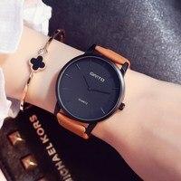 Stylish GIMTO Brand Ladies Watch Leather Strap Casual Lovers Women Watches Clock Quartz Vintage Wristwatch Reloj