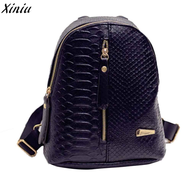 Women Backpacks Solid Color Leather Casual Vintage Travel Bagpack Back Pack  Girls Simple Fashion Schoolbags Sac A Dos  8801 bf753b974a888
