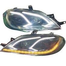 Для Excelle Nubira Forenza светодиодный головной светильник для Buick 2002-2010 черный корпус