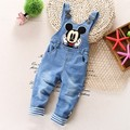 1-2.5Y new 2016 spring autumn boys cartoon jeans overall baby boy jeans pant  boys pant