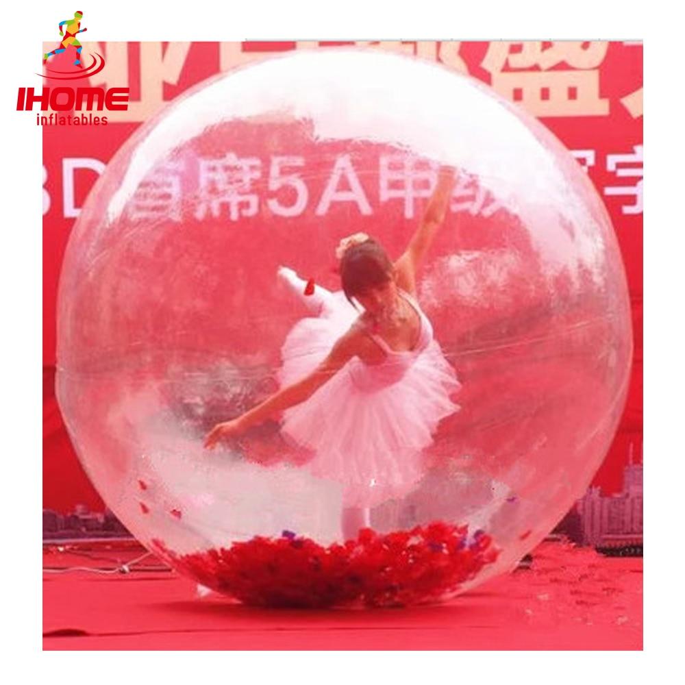 JIAINF 3m TPU bola Inflatable zorbing bola air, bola dansa berjalan air