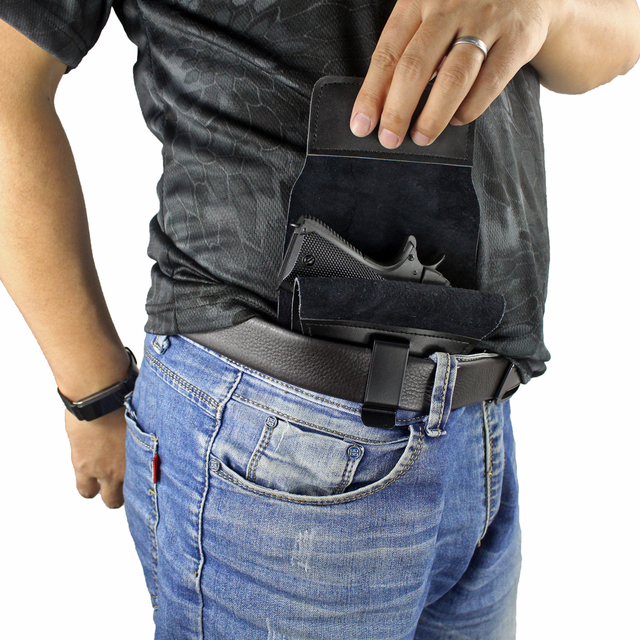 Full Concealed Carry Holster Rapid Draw Leather Inside The Waistband Holster for Compact to Medium Handguns 2