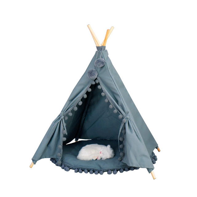Cat tent, indoor use, grey