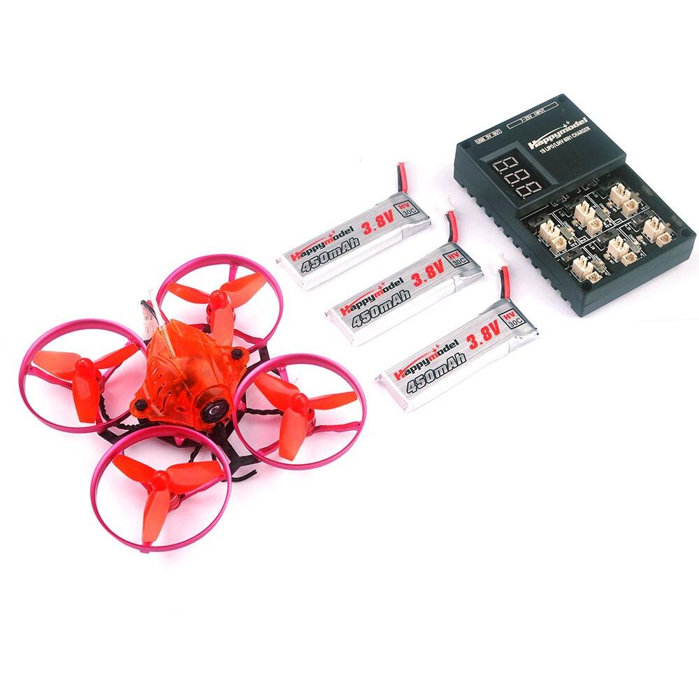 Snapper7 sin escobillas Whoop Drone BNF Micro 75mm FPV Racing Quadcopter Crazybee F3 Control de vuelo Flysky RX 700TVL Cámara VTX