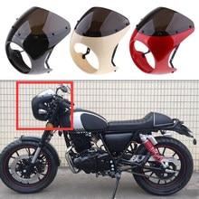 Motocykl przedni reflektor Fairing szyba przednia szyba plastikowa uniwersalna do Cafe Racer motocykl Retro reflektor szyba przednia