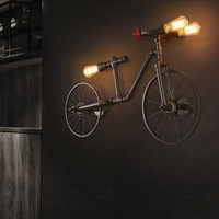 American Bicycle Pendant Light Child Creative Loft Vintage pendant lamp for Home decoration iron wrought led edison E27 110 220V