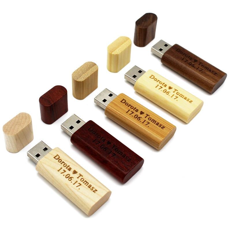 LOGO Maple Wood/Walnut Wood Pendrive 4gb 8gb 16gb 32gb Usb2.0 Usb Flash Drive Gift Pendrive