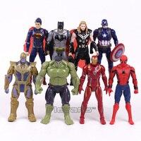 Marvel Super Heroes Iron Man Spiderman Captain America Thor Hulk Thanos PVC Action Figures Toys 8pcs