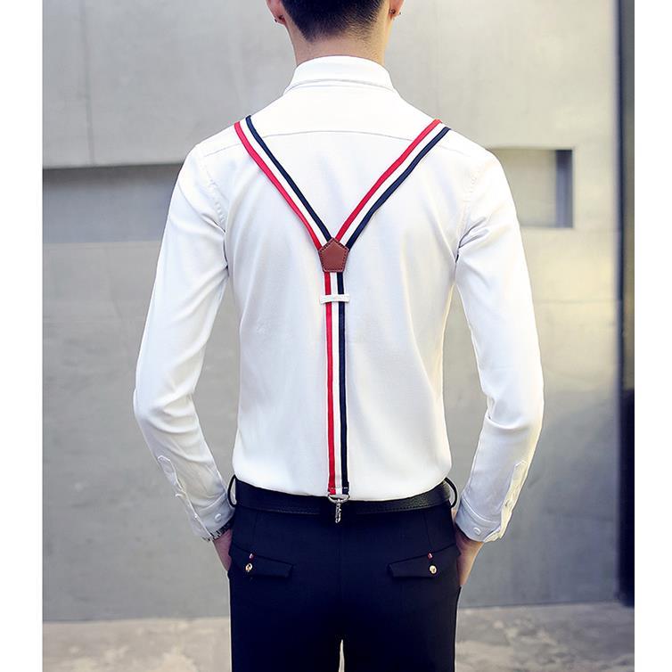 2017 Nouveau Noir Costumes Gd Hommes Décoration Clothing Chemise Styliste Coréenne Mode Personnalité Cheveux blanc Printemps Harnais Bigbang De Chanteur qqxBrwR4