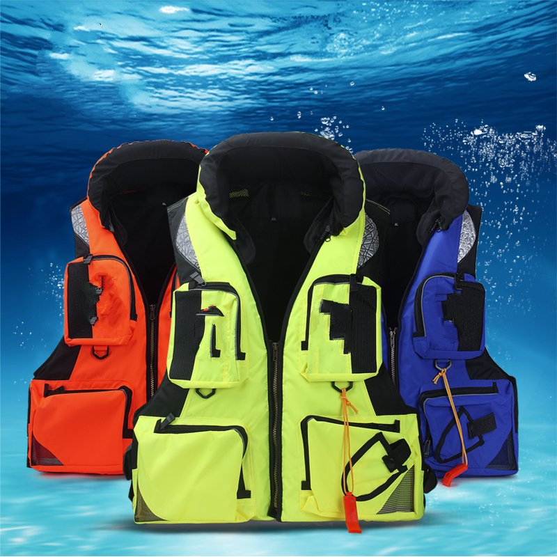 Outdoor rock fishing service fishing jacket multi - pocket vest vest life jackets adult professional large size fishing suits professional multi pocket fly fishing vest sleeveless waterproof life rescue jacket outdoor photography clothing sea wear shirts