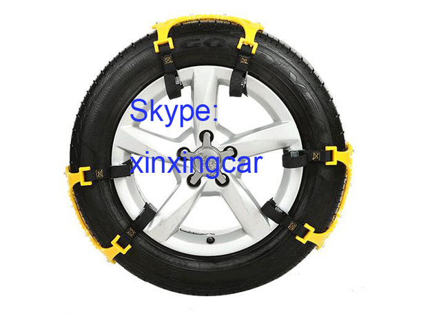 Newest 3PCS Universal Car Snow Chains Thickened beef tendon Simple installation styling Best quality Winter Accessories