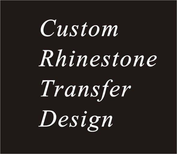 20pcs lot custom rhinestone transfer hot fix rhinestone motif iron on rhinestone motif