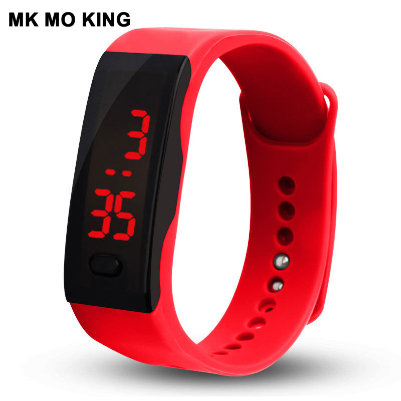 Fashion LED Bracelet Couple Watches Men's Women's Electronic Clock Casual Sports Silicone Candy Color Children's Gift Montre