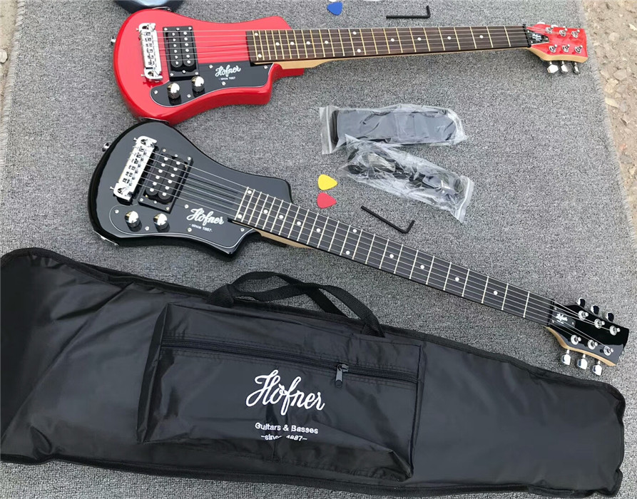 free shipping top quality hofner mini portable electric guitar travel guitar(China)