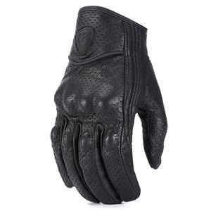 Image 4 - ROAOPP Retro Pursuit Real Leather Motorcycle Gloves Touch Screen Men Women Motocross Waterproof Electric Bike Gloves Moto Glove