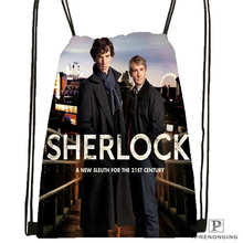 Custom Sherlock-The-Abominable-@02-Drawstring Backpack Bag Cute Daypack Kids Satchel (Black Back) 31x40cm#180611-03-109