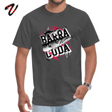 BARRACUDA T-shirt Predator Fish Print Men T Shirt Fisher Cool Clothes Gift Custom Man Tshirt Grey Tees Letter 3D Fitness Tops