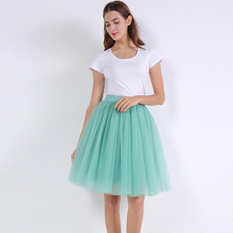 მაღალი წელის 7 ფენა Midi Tulle skirt - ქალის ტანსაცმელი - ფოტო 2