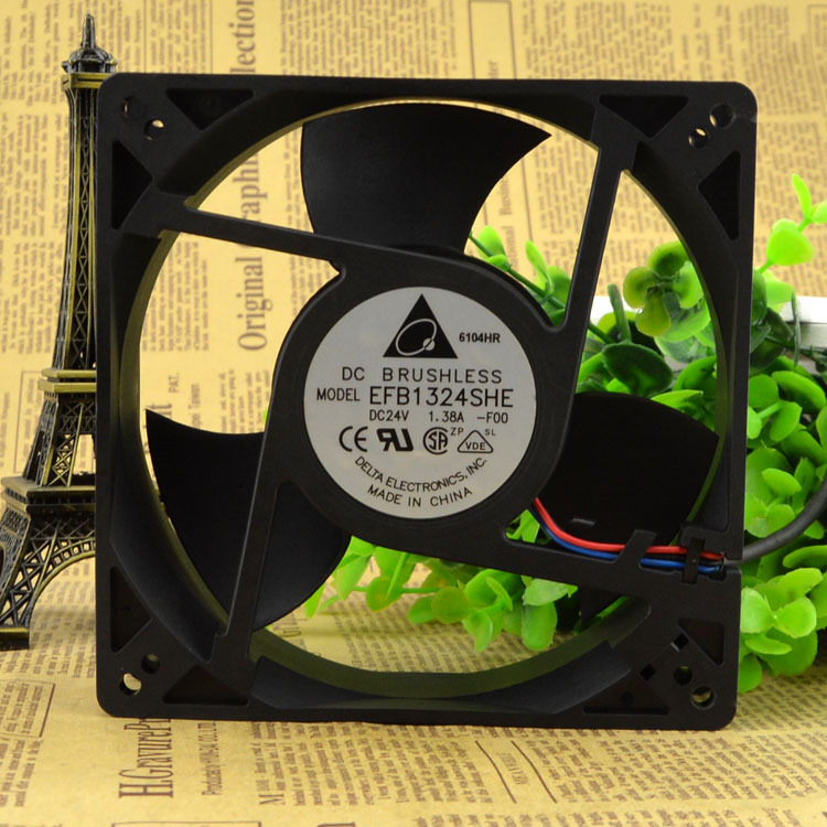 for Delta 12738 EFB1324SHE 24V 1.38A 12.7cm 13cm Large air Volume axial Flow Inverter Fan