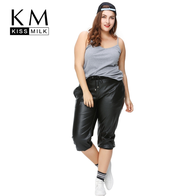 348091eb989 Kissmilk Plus Size New Fashion Women Clothing Casual Solid Black Pants  Streetwear Warm Thicken Warm Big Size Harem Pants 3XL-6XL
