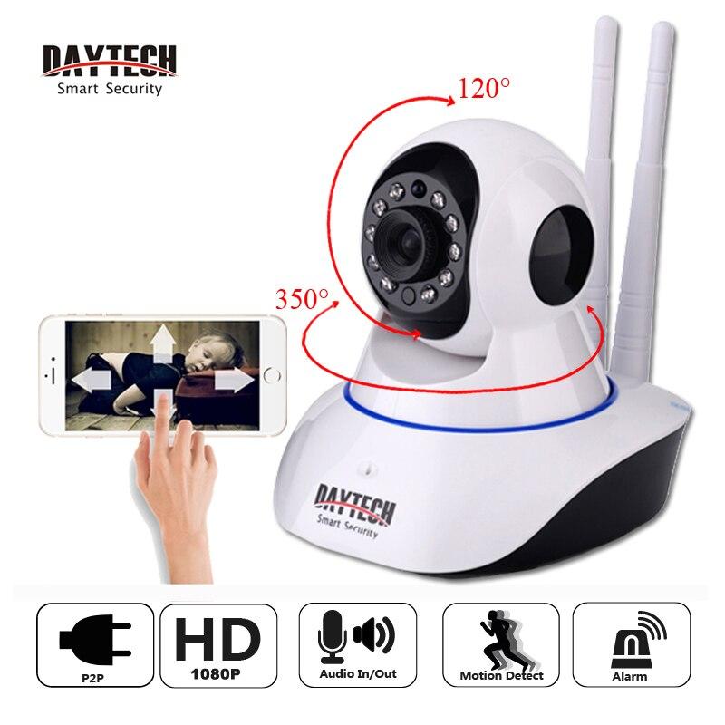 DAYTECH 2MP Câmera IP 1080P Wi-Fi Câmera de Vigilância Sem Fio Wi-fi P2P Network Security CCTV Monitor Do Bebê de Duas Vias de Intercomunicação IR