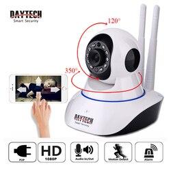 Daytech 2mp câmera ip 1080 p wi-fi sem fio câmera de vigilância wifi p2p segurança cctv rede monitor do bebê em dois sentidos intercom ir